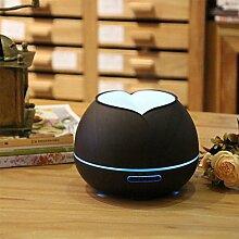 300ML Bunt Nachtlicht Luftbefeuchter Aromatherapie Luftbefeuchter Ultraschall Luft Diffusor Cool Zerstäuber  Yoga, Schlafzimmer, Wohnzimmer - Holzmaserung , Deep wood grain