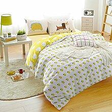 300TC Simple Baumwolle Geometrische Muster Eine vierköpfige Familie(1Bettbezug 1Blatt 2Kissen)-C Queen2