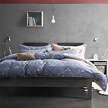 300TC Simple Baumwolle Geometrische Muster Eine vierköpfige Familie(1Bettbezug 1Blatt 2Kissen)-B Queen2