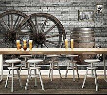 300X250cm 3D Retro Räder graffiti Wandbild Wohnzimmer Sofa TV Hintergrund wand Schlafzimmer Coffee House Studie Bar wallpaper Wandbild, Beige
