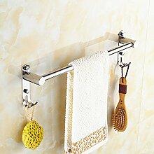 304 Edelstahl-Bad Handtuchhalter Bad einzelne Stange verlängert Kleiderstange Handtuchhalter Bad-Accessoires Punch ( größe : 30cm )