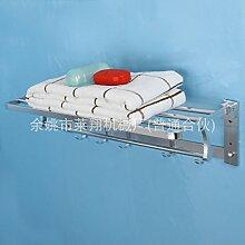 304 Edelstahl Badewanne Badezimmer Handtuchhalter Handtuchhalter mit Ablage für Wandmontage mit Badezimmer Handtuchhalter polier