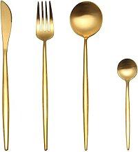 304 Edelstahl Black Gold Besteck Set Geschirr