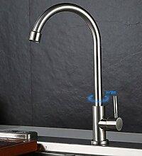 304 Edelstahl Einzel Kaltwasserhahn Küche