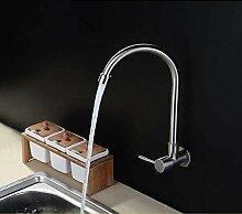 304Edelstahl einzigen kalten Wasserhahn Spüle