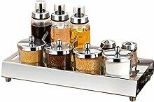 304 Edelstahl Gewürzglas Set Salzglas Gewürzbox