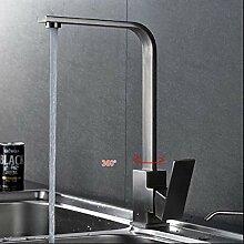 304 Edelstahl Küchenarmatur Gebürstet Matt 360