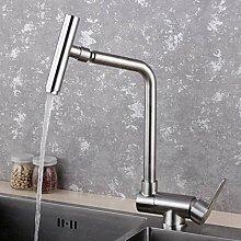 304 Edelstahl Küchenarmatur Heiß- und Kaltwasser