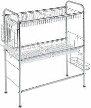 304 rostfreier Stahl Küchenregal, Double Layers