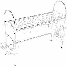 304 rostfreier Stahl Küchenregal, Einlagiges