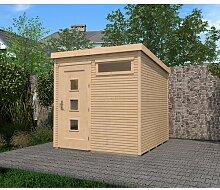 305 cm x 305 cm Gartenhaus Weka Farbe: Hellbraun