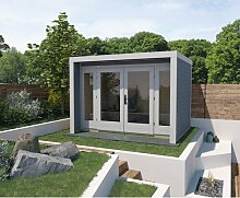 305 cm x 305 cm Gartenhaus Weka Farbe: Weiß