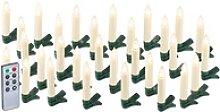 30er-Set LED-Weihnachtsbaum-Kerzen mit