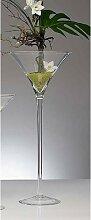 30er Set XXL Martiniglas, Bodenvase auf Fuß H.