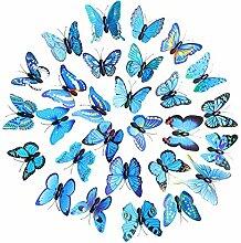 30PC Abnehmbar Schmetterlinge Wandaufkleber