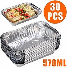 30pcs Einweg-Grill Auffangwannen aus Aluminium