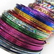 30PCS Mixs Farbe Striping Tape Line Streifen Klebe Nagel Nailart Dekoration Aufkleber