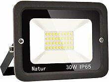 30W LED Strahler Außen Superhell LED Fluter 3000k
