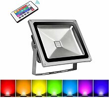 30W RGB LED Strahler, Papasbox Farbig Fluter