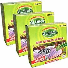 30x Anti Mückenspirale Außenbereich | Insektenschutz Wespenabwehr Mückenabwehr