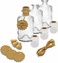 30x Apothekerflaschen Glas Geschenk Komplettset