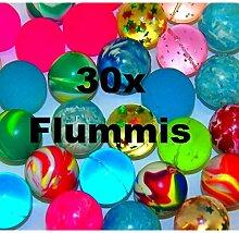 30x bunte Flummis Gummiball Hüpfball Springball