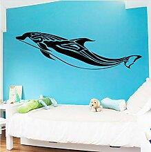 30X102cm Delphin Design Tier Wandaufkleber