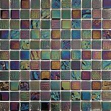 30x30cm Irisierende Perlmutt Texturiert Glas