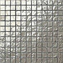 30x30cm Silber texturiert Glas Mosaik Fliesen