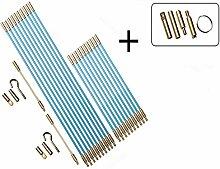31 teiliges Set Kabel Verlegewerkzeug 330 mm + 1000 mm + Zubehör glasfaserverstärkter Polyesther