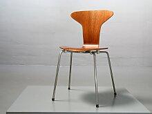 3105 Mosquito Stuhl aus Teak von Arne Jacobsen