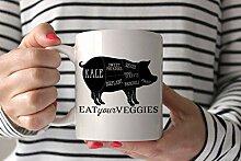 312 ml Keramik Kaffeetasse Veggie Pig Tasse,