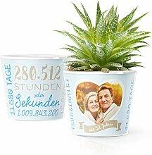 32. Hochzeitstag Geschenk – Blumentopf (ø16cm)