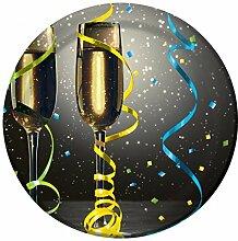 32 kleine Pappteller Silvester Champagner für Kuchen oder Fingerfood
