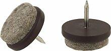 32mm Durchmesser Filz Pads Nail Gleiter Knock In Möbel Stuhl Tisch Bein Füße kratzfreiem Protektoren Möbelgleiter braun rund Made in Germany.....