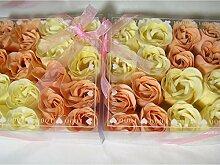 32 Stk Duft Baderosen rosa weiss Rosenseifen Gästeseifeseife Geschenkidee Seife