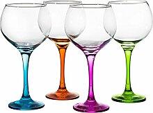 330Y65 Gin-Glas, verschiedene Farben, 4er-Se
