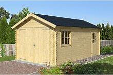 335 cm x 579 cm Blockhaus Wilken Garten Living