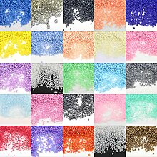 34000 Rocailles 2mm Perlen Set Glas 25 Farben
