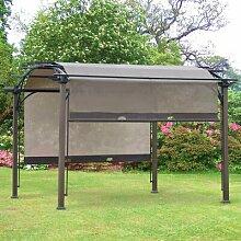 345 cm x 345 cm Grillpavillon Marinel aus Stahl