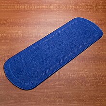 35 * 92cm Bad Duschraum Sauger Massage Fußpolster Toiletten Matte Matratze Bad Matte ( Farbe : Blau )