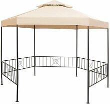 350 cm x 300 cm Pavillon Etter aus Stahl