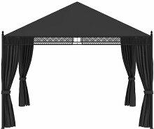 350 cm x 350 cm Pop-Up Pavillon Pirrone aus Stahl