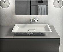 350 mm rechteckiges Aufsatz-Waschbecken Bosa aus