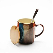 350cc Kreative Vintage Handbemalt Kaffeebecher Mit