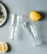350ml Double-Layer-Bierglas Kreative Flip Beer Cup