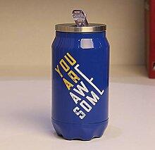 350ml Edelstahl Thermo Trinkflasche aus Stroh