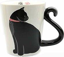 350ml Schwarze Katze Geformt Keramik Kaffeetasse