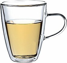 350ml Transparent hitzebestŠndig Doppel-wandige Glas Tasse Kung-Fu Tee Tasse Kaffee-Haferl