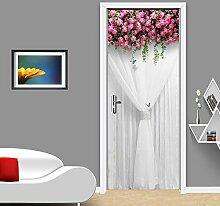 35D Tür-Aufkleber Fototapete Türfolie Rose Girl